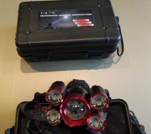Lanterna Frontal / Cabeça 35.000LM 5 - Com Zoom