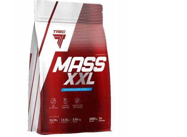 Mass xxl 1000g smak czekolada-masówka ,szybki przyrost masy!