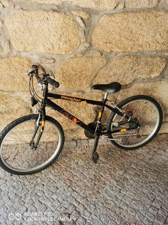 Bicicleta roda 24 com luzes sem bateria