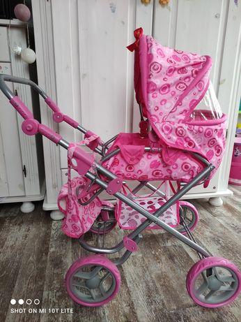 Wózek dla lalek składan różowy