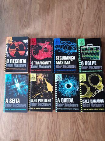 uma coleção de livros para jovens