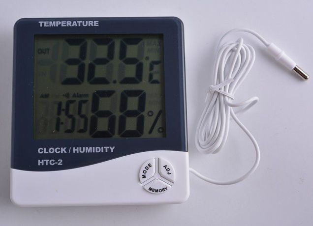 Термометр гигрометр с измерением влажности HTC-2