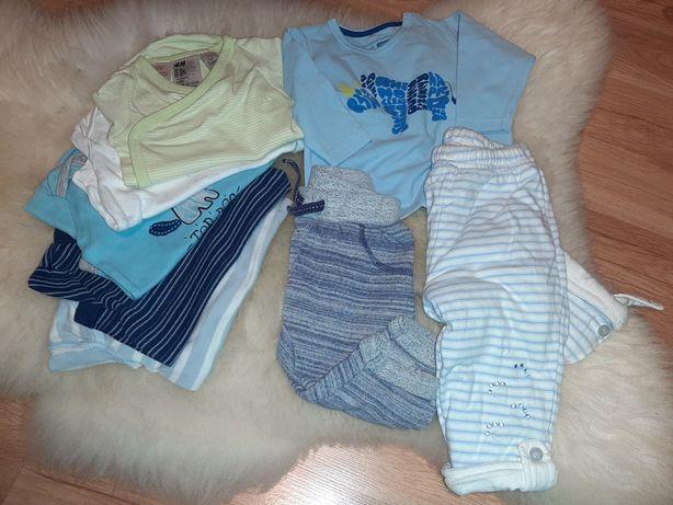 Zestaw bluzeczka spodnie body 62-68