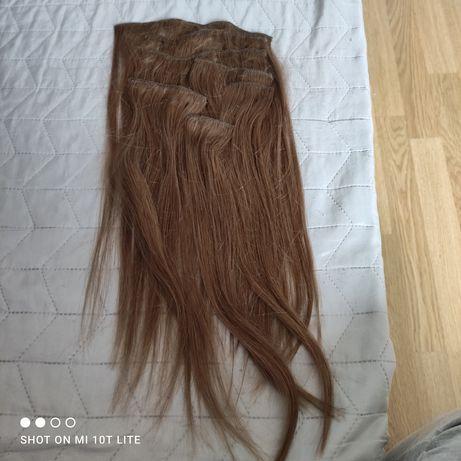 Naturalne włosy clip in 40cm