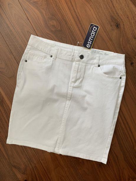 Nowa spódnica dżinsowa biała Esmara 38