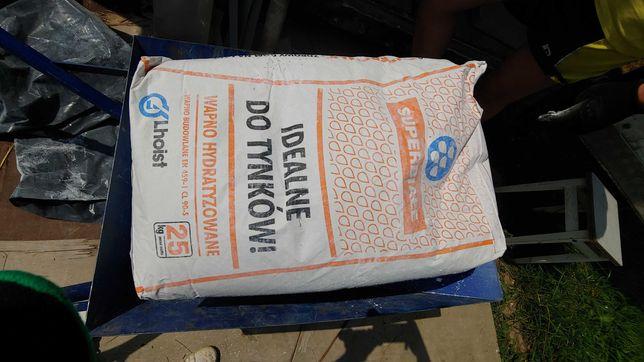 Wapno hydratyzowane 4 worki, 25 kg 20 zl worek