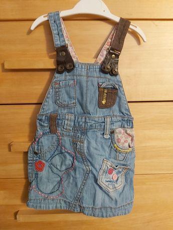 Sukienka ogrodniczka next rozm 86, jeans