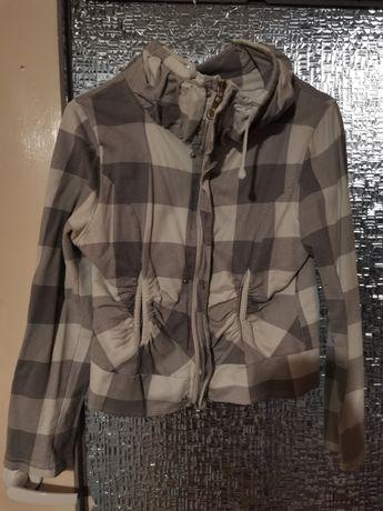 Szara bluza w kratkę