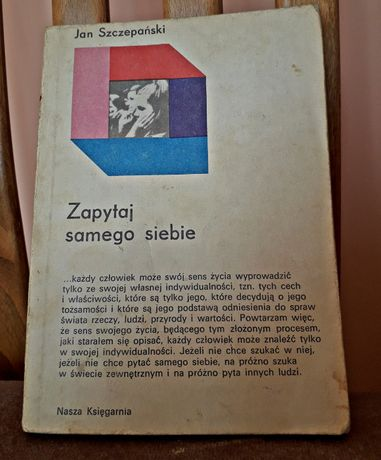 """Książka """"Zapytaj samego siebie"""" Jan Szczepański"""