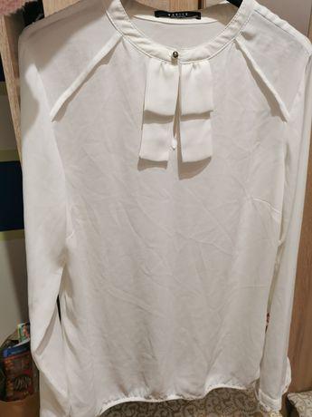 Koszula bluzka biała elegancka Mohito