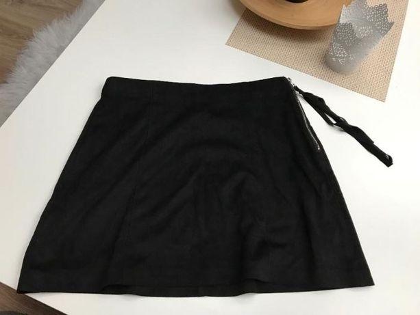 Zamszowa czarna Mini spódnica ZARA rozmiar S NOWA
