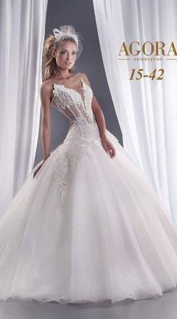 Piękna suknia ślubna r. 38-40