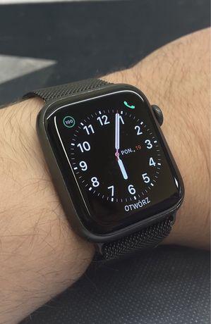 Apple Watch 5 44mm Pełny komplet / 2 paski / Stan BDB / Gwarancja!