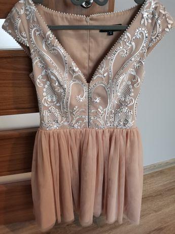 Sukienka Illuminate Laila M beż nude