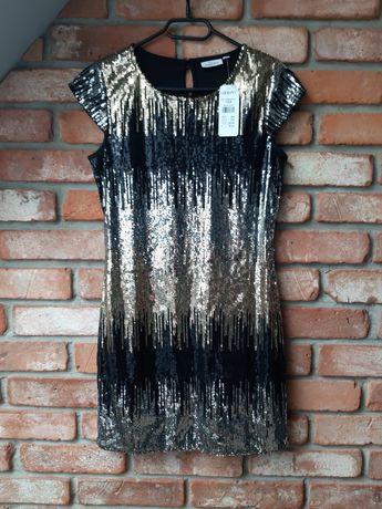 Nowa sukienka z cekinami KappAhl roz. 164 Nowa z metką