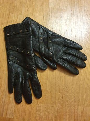 Кожаные перчатки рукавицы