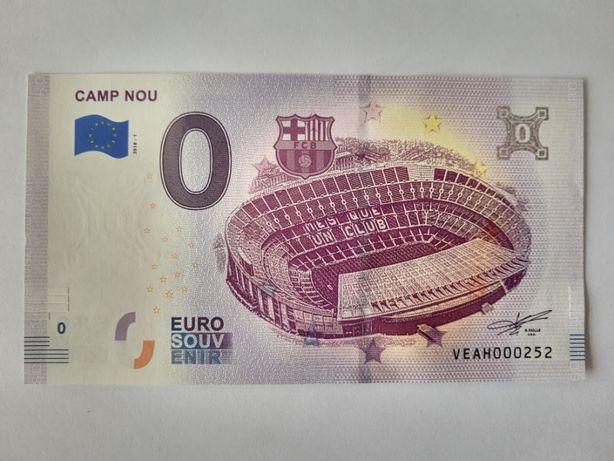Notas 0 euros souvenir Camp Nou / Lucky Luke