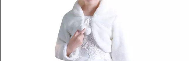 Bolerko futerko 8 9 lat suknia wesele komunia