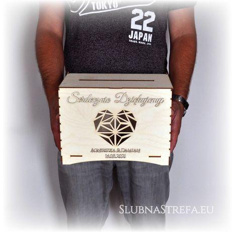 pudełko na koperty drewniane pudło skrzynka na koperty ślub wesele