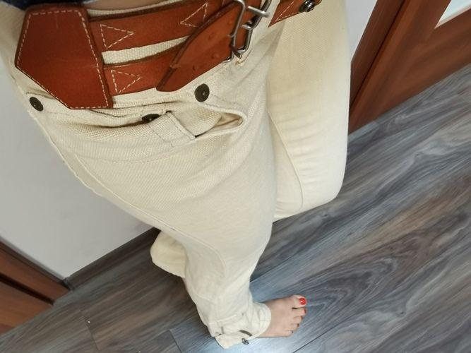 Spodnie lniane XS 34 roz. 26 Ralph Lauren proste