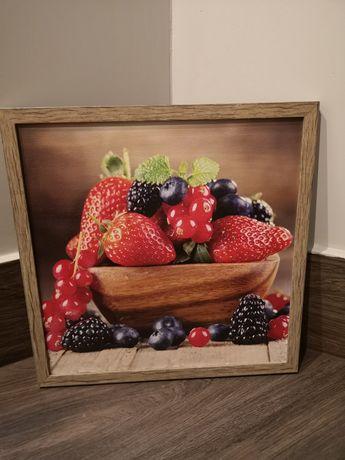 Obrazek owoce z ramką.