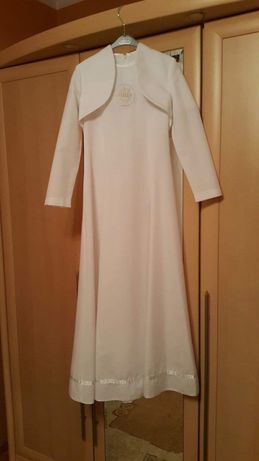 Alba / sukienka do Komunii na kole rozm.140/146 + wianek