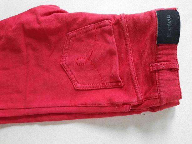 Mayoral spodnie czerwone jak legginsy 128