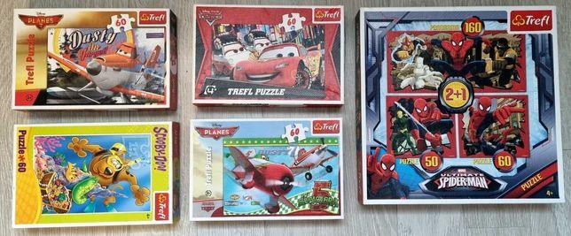 Puzzle Zamienię Psi Patrol Spider-Man Dusty, Auta, Samoloty Trefl