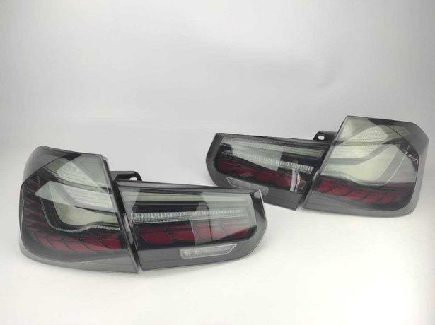 Задние диодный фонари BWM 3 F30 F80 в стиле GTS дымчатые