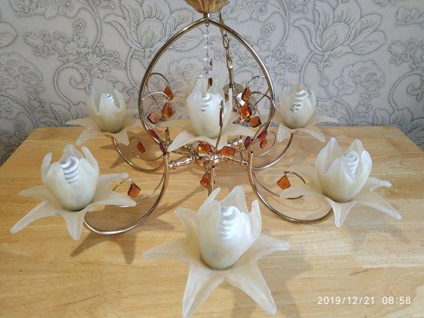Люстра в зал, гостиную+подарок(лампочки)