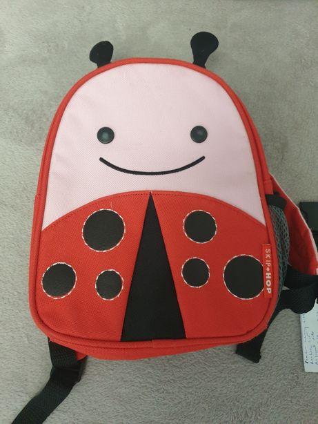 Plecak dla przedszkolaka Biedronka, ze smyczą