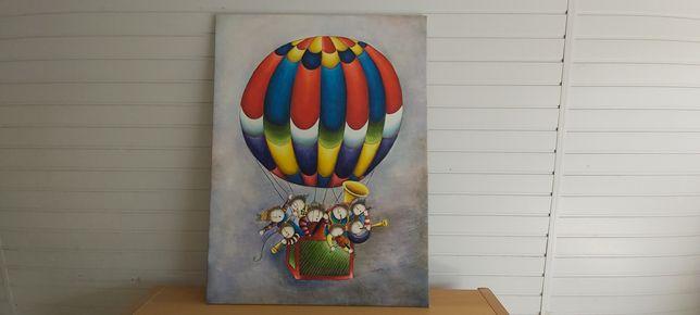 Quadro balão ar quente 90x120