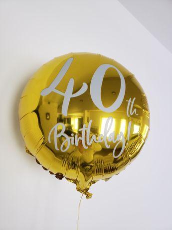 Balon foliowy 40 th Birthday , 45 cm napełniony helem