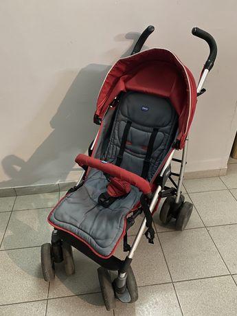 Прогулочная коляска Chicco Multiway трость красная + дождевик + чехол
