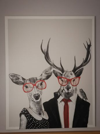 Duży obraz na płótnie jelenie 100x80