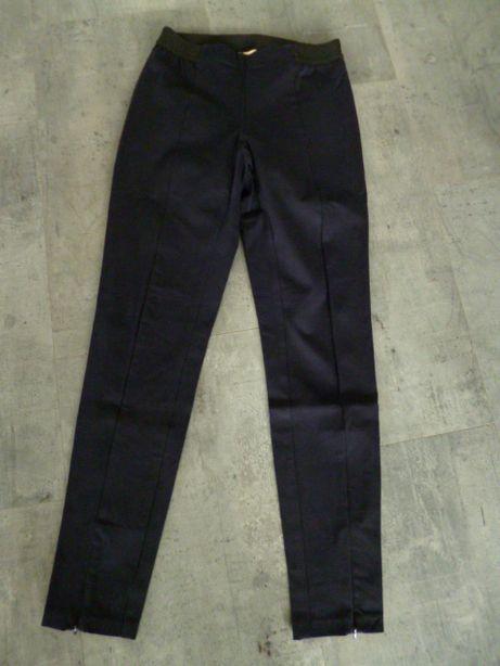Spodnie damskie slim fit, nogawki z przodu z zamkiem, rozm. -40- 10 -M