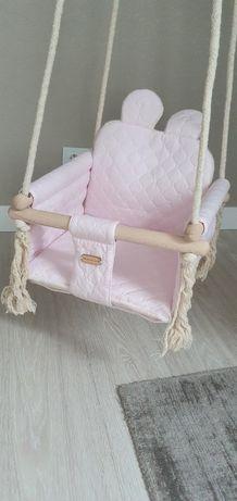 Huśtawka dla dziecka różowa stan idealny