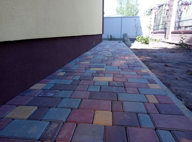 Укладка тротуарной плитки от 90грн за м2