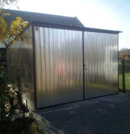 Blaszak GARAŻE BLASZANE garaż na budowę schowek PRODUCENT blaszaki 3x4