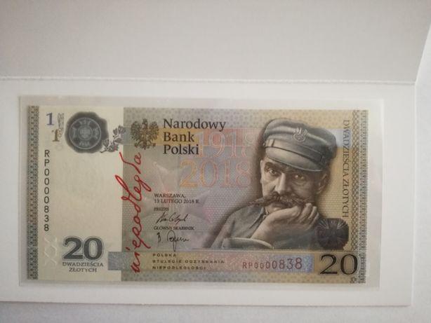 Banknot kolekcjonerski 20zł Niepodległość