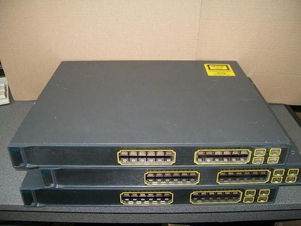 Коммутаторы (свитчи) Cisco гигабитные WS-C3750G-24TS-S1. Гарантия