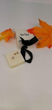 złote kolczyki motylko dla dziewczynki briju