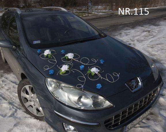 ŚLICZNA dekoracja na samochód w dwóch kolorach/ozdoba/ślub/nowa
