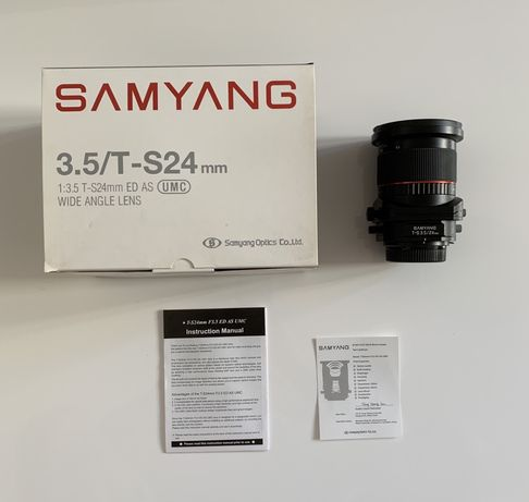 Nikon mount Tilt-Shift Samyang 24mm f/3.5 ED AS UMC