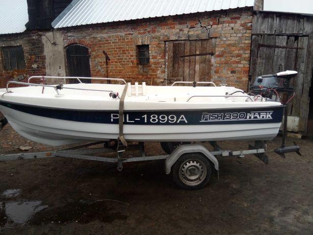 ŁÓDKA FISH 390 MARK silnik yamaha i minn Kota 40