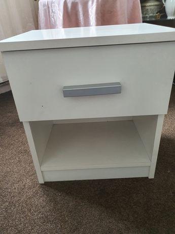szafka biała nocna z szufladą