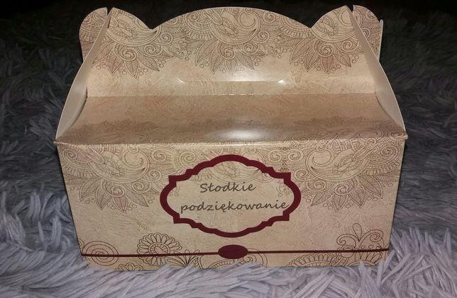 Pudełko opakowanie na ciasto podziękowanie