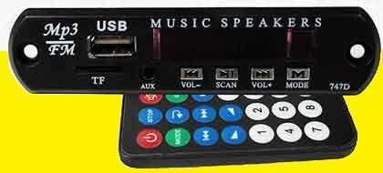 модуль MP3, USB,FM,AUX, 12 Вольт