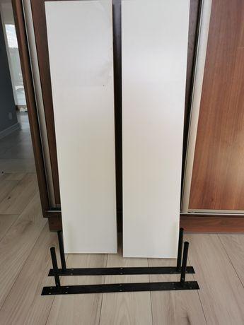 Pułka ścienna wisząca biała z IKEA