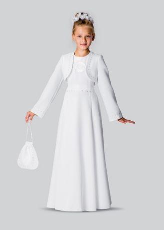 Alba sukienka komunijna dziewczynka - komplet z bolerkiem,butami itp